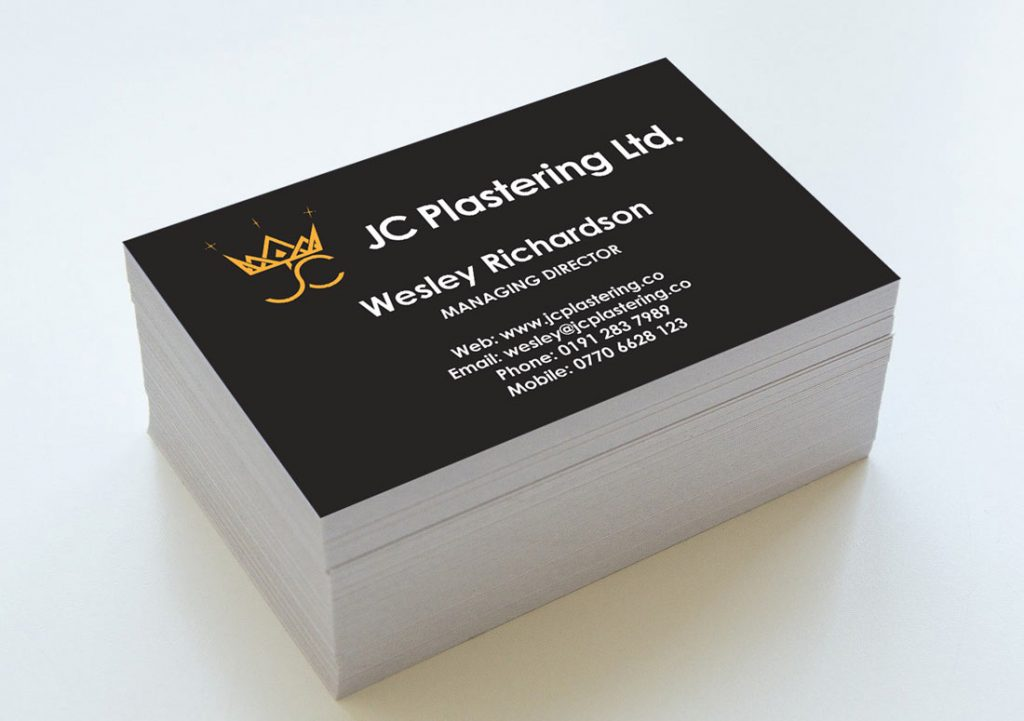 Cards designed and printed